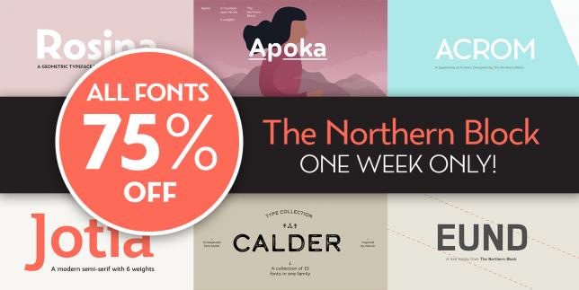 Northern Block 75% Off Sale