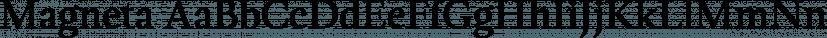 Magneta font family by Positype