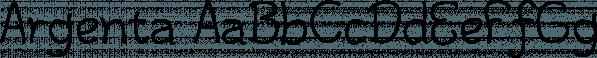 Argenta font family by Ingrimayne Type