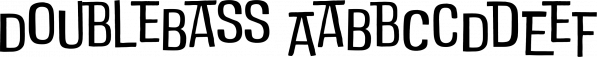 DoubleBass font family by Zetafonts