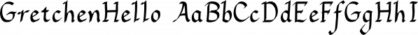 GretchenHello font family by Ingrimayne Type