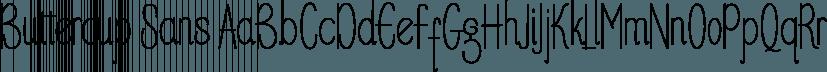 Buttercup Sans font family by pollem.Co