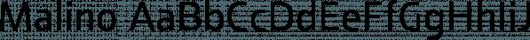 Malino font family by Lafontype