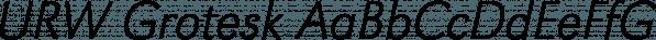 URW Grotesk font family by URW Type Foundry