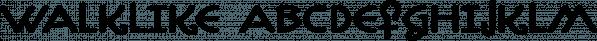 Walklike font family by Cerulean Stimuli