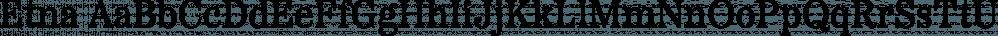 Etna font family by Mark Simonson Studio