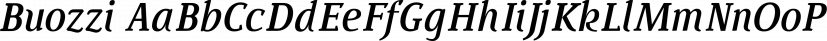 Buozzi font family by Sea Types