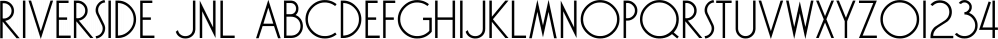 Riverside JNL font family by Jeff Levine Fonts