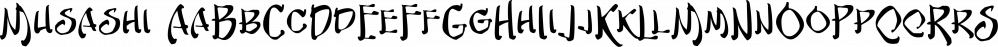Musashi font family by Blambot