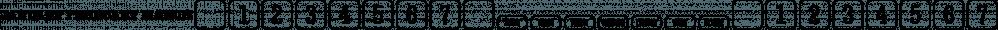 Wood Type Calendar JNL font family by Jeff Levine Fonts