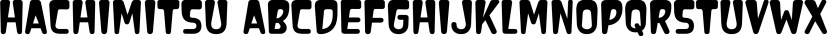 Hachimitsu font family by Typodermic Fonts Inc.