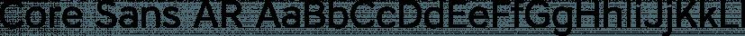 Core Sans AR font family by S-Core