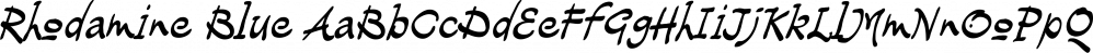 Rhodamine Blue font family by Type Associates