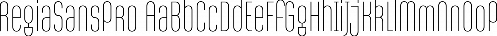 RegiaSansPro font family by Latinotype