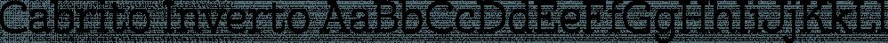 Cabrito Inverto font family by Insigne Design