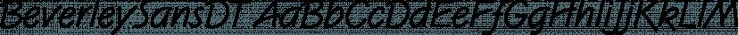 BeverleySansDT font family by DTP Types