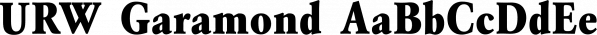 URW Garamond font family by URW Type Foundry