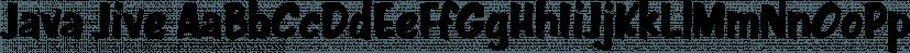 Java Jive font family by Typadelic
