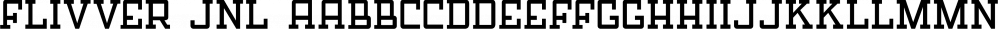 Flivver JNL font family by Jeff Levine Fonts