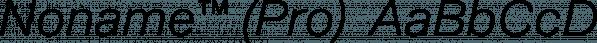 Noname™ (Pro)  font family by Bold Studio