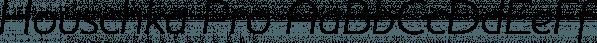 Houschka Pro font family by G-Type