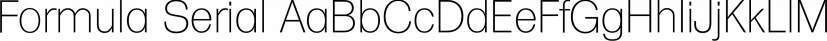 Formula Serial font family by SoftMaker