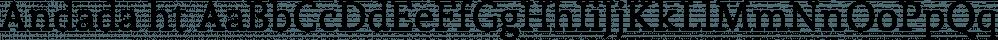 Andada ht font family by Huerta Tipográfica