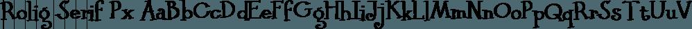 Rolig Serif Px font family by Pixilate