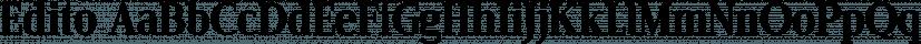 Edito font family by Wiescher-Design