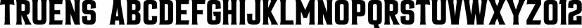 Truens font family by Seventh Imperium