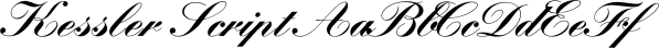 Kessler Script font family by FontSite Inc.