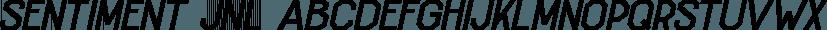 Sentiment JNL font family by Jeff Levine Fonts