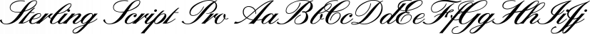 Sterling Script Pro font family by Canada Type