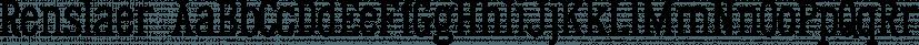 Renslaer font family by Ingrimayne Type