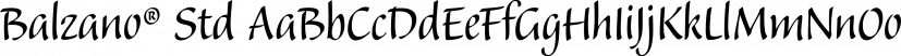 Balzano® Std font family by Adobe
