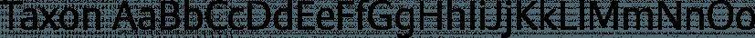 Taxon font family by Hoftype