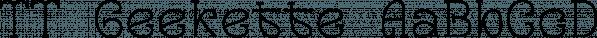 TT Geekette font family by TypeTrends