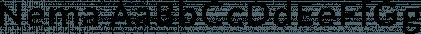 Nema font family by Hurufatfont Type Foundry