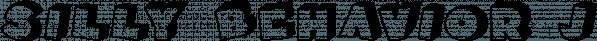 Silly Behavior JNL font family by Jeff Levine Fonts
