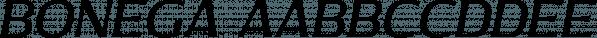 Bonega font family by Locomotype