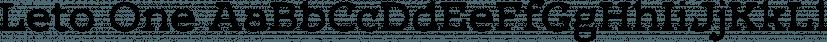 Leto One font family by Glen Jan