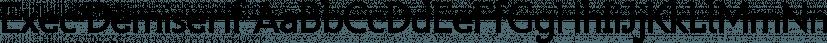 Exec Demiserif font family by Wiescher-Design