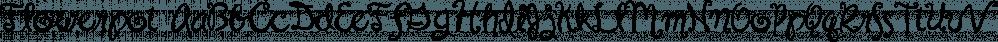 Flowerpot font family by Fonthead Design