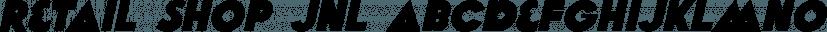 Retail Shop JNL font family by Jeff Levine Fonts