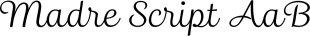 Madre Script font family mini