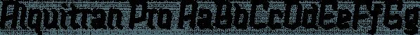 Alquitran Pro font family by Rodrigo Typo