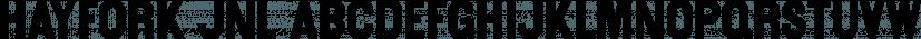 Hayfork JNL font family by Jeff Levine Fonts