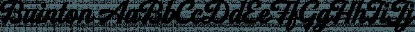 Buinton font family by Mika Melvas
