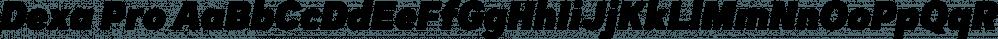 Dexa Pro font family by Artegra