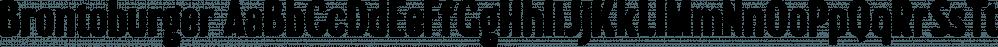 Brontoburger font family by Sharkshock